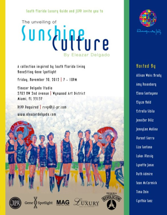 Eleazar Delgado Sunshine Culture VIP Unveiling November 30
