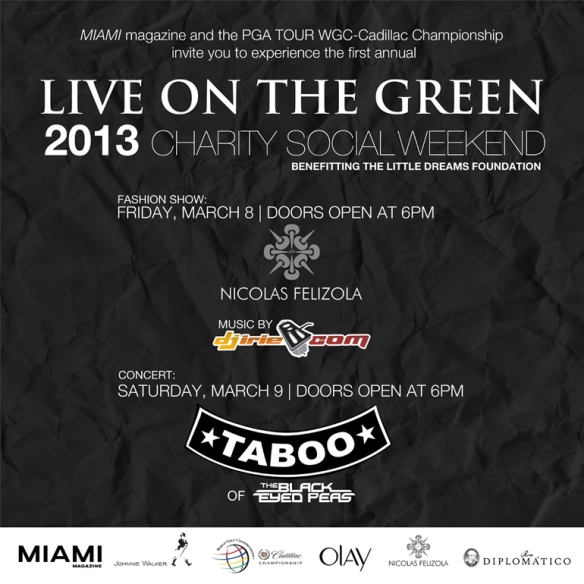 LIVE ON THE GREEN SOCIAL WEEKEND Flyer