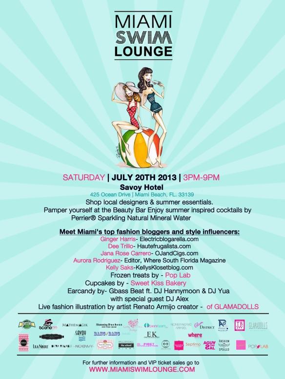 miami free events, miami swim week free events, miami swim vip events, miami swim lounge, dee trillo, ginger harris, events at savoy, savoy hotel miami, kelly saks events