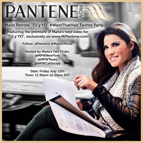 pantene, maite perroni, twitter party, fashion, hair tips