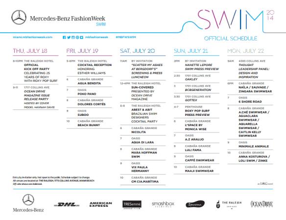 miami swim events, miami events, mbfw swim events, ocean drive mag events, mbfw raleigh, mercedes benz swim miami
