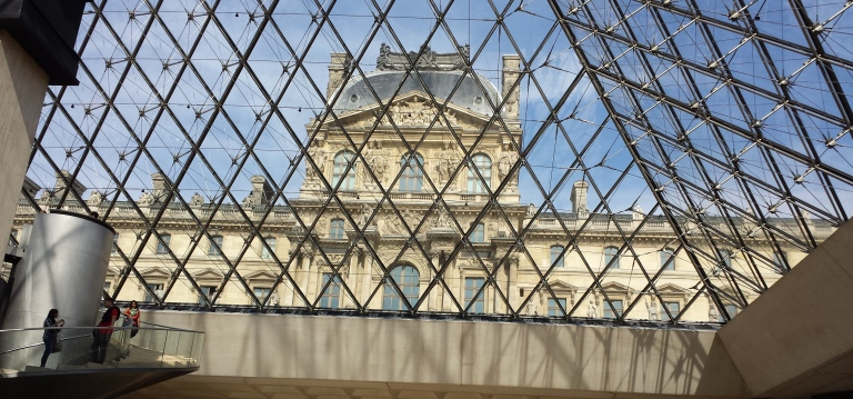 View From Inside The Louvre's Pyramid