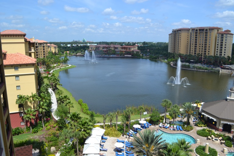 Gorgeous Balcony View of Wyndham Grand Orlando Hotel and Resort, Bonnet Creek