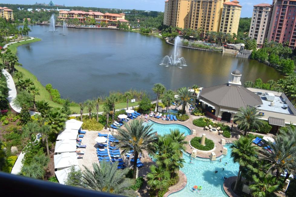 Gorgeous Balcony View of Wyndham Grand Orlando Hotel and Resort, Bonnet Creek