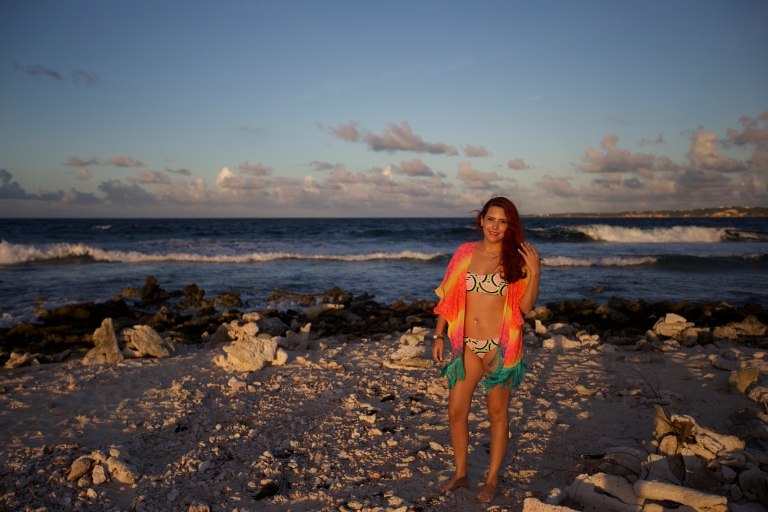 Wearing Forever 21 Watermelon Bikini in Anguilla. Pic By: Devin Galaudet
